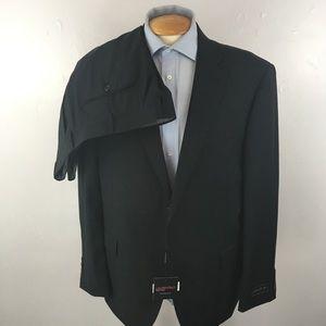 Laurentino mens suit black 48r italy nwt ea0259